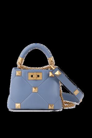 Mini Top Handle Bag in Blue Leather VALENTINO GARAVANI