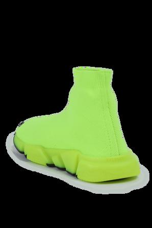 גילאי 23-32 נעלי גרב בצהוב ניאון BALENCIAGA KIDS