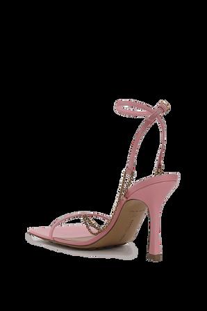 Strech Heeles Sandals in Pink BOTTEGA VENETA