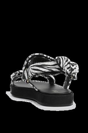 סנדלי פיבי זברה בצבעי שחור ולבן MICHAEL KORS
