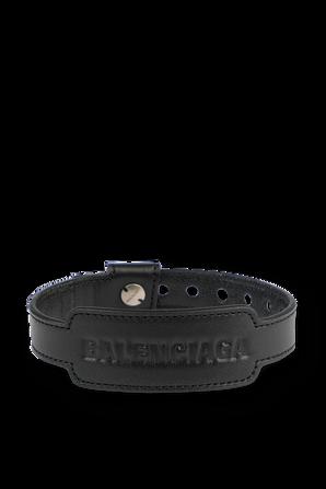 Cash Bracelet in Black Leather BALENCIAGA