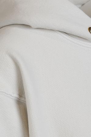 Cropped Hoodie in Ivory LES TIEN