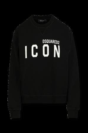 Icon Sweatshirt in Black DSQUARED2