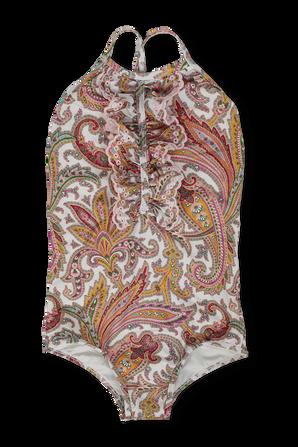 גילאי 1-10 בגד ים שלם הדפס פייזלי עם מלמלה ZIMMERMANN KIDS