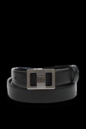 Black Leather Logo Belt DOLCE & GABBANA