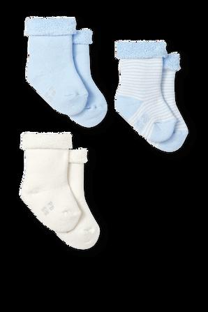 גילאי NB-12 חודשים מארז שלישיית גרביים בגוון כחול PETIT BATEAU