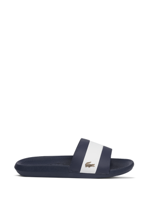 Croco Slides in Blue LACOSTE