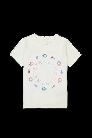 גילאי 2-14.5 טי שירט לוגו ופרחים STELLA McCARTNEY KIDS