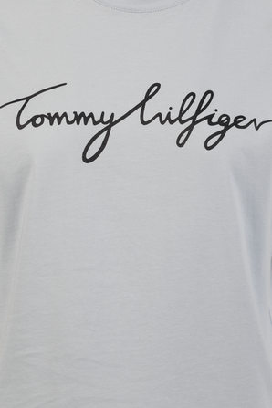 Graphic Signture Logo T-Shirt in Light Blue TOMMY HILFIGER