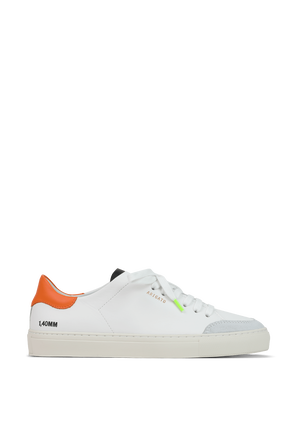Clean 90 Triple Sneakers in White Orange and Neon AXEL ARIGATO