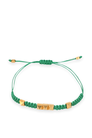 Pyrmid Bracelet in Green and Gold VALENTINO