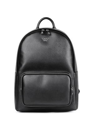 Black Backpack With Eagle Plaque EMPORIO ARMANI