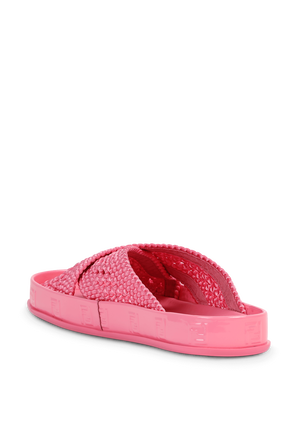 Woven FF Sandals in Pink FENDI