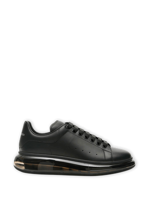 Black Oversized Sneakers with Transparent Sole ALEXANDER MCQUEEN