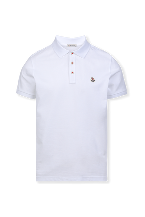 Slim Fit Polo Shirt in White MONCLER