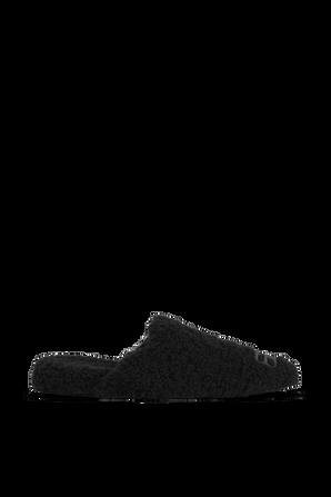 נעליים שטוחות ופרוותיות בצבע שחור BALENCIAGA