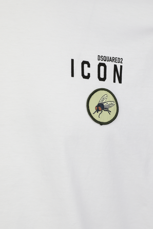 Fly Cotton Tshirt in White DSQUARED2
