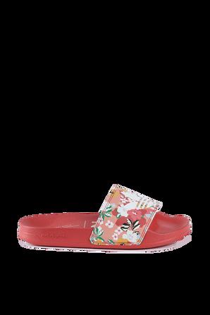 Floral Slides in Roze ADIDAS ORIGINALS