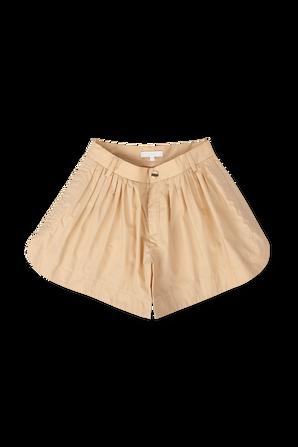 גילאי 6-12 מכנסיים קצרים בגוון בז' CHLOE KIDS