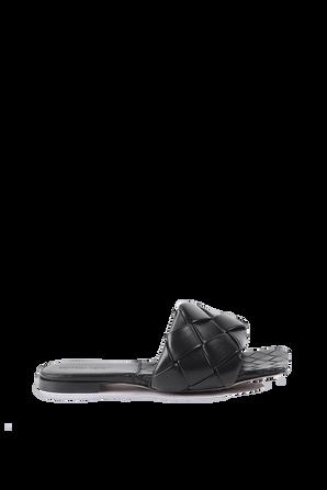 Lido Flat Sandals in Black BOTTEGA VENETA