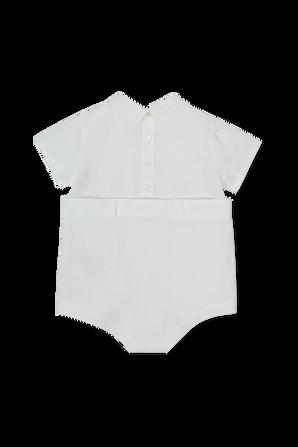 גילאי 6-24 חודשים אוברול קצר בלבן FENDI KIDS