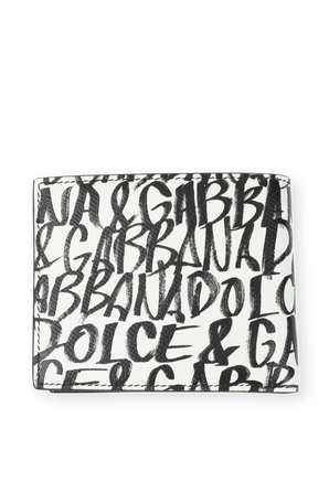 Leather Card Holder in White DOLCE & GABBANA