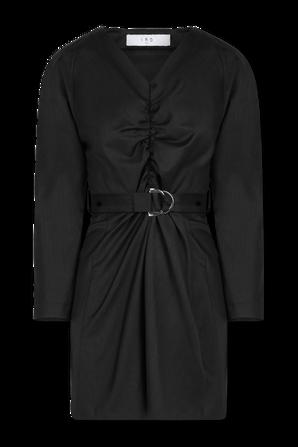 שמלת מיני עם חגורת בד בגוון שחור IRO