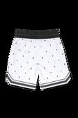 גילאי 3-14 מכנסיים קצרים בהדפס מונוגרמה וכוכבים בלבן image number null BURBERRY