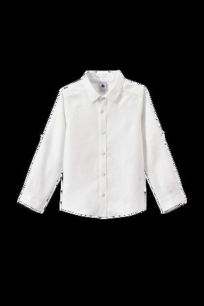 גילאי 6-12 חולצה מכופתרת בלבן PETIT BATEAU