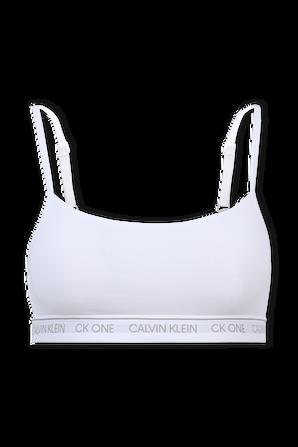 Unlined Bralette in White CALVIN KLEIN