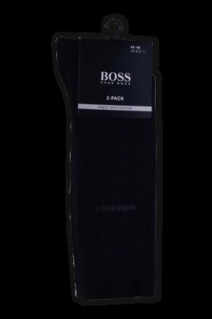 2-Pack Logo Socks in Dark Blue BOSS