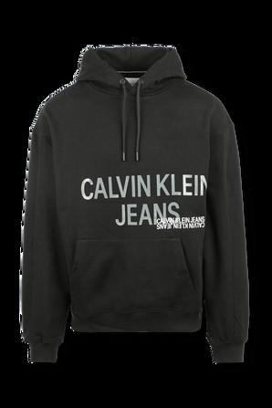 קפוצ'ון עם לוגו גרפי בצבע שחור CALVIN KLEIN