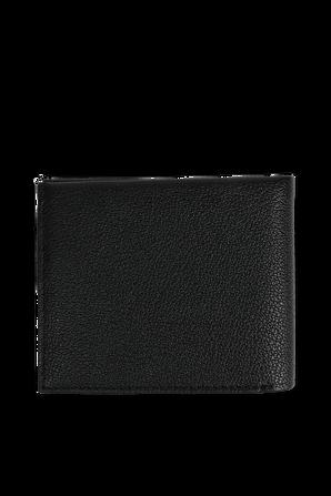 Black Leather Billfold Wallet CALVIN KLEIN