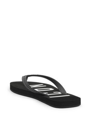 Icon Flip Flops in Black DSQUARED2