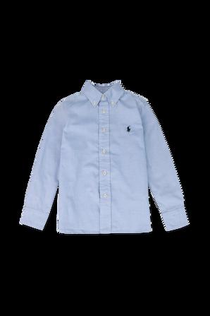 גילאי 2-4 חולצת כפתורים בצבע תכלת POLO RALPH LAUREN KIDS