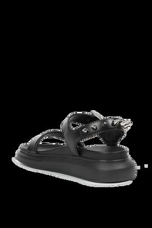 Leather Studs Sandals in Black ALEXANDER MCQUEEN