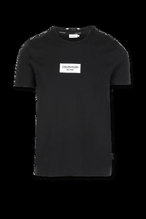 Chest Box Logo Slim T-Shirt In Black CALVIN KLEIN