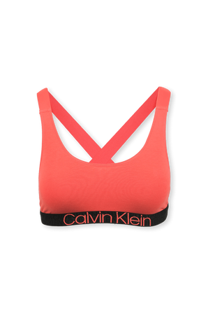 Unlined Bralette Logo Tape in Punch Pink CALVIN KLEIN