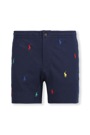 Logo Print All Over Shorts in Blue POLO RALPH LAUREN