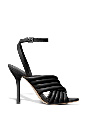 Royce Sandals in Black Leather MICHAEL KORS