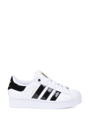 Superstar Bold Shoes in White and Black ADIDAS ORIGINALS