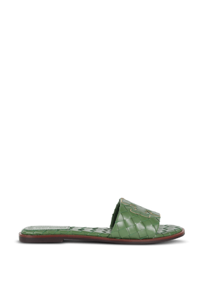 Ines Slides in Green TORY BURCH
