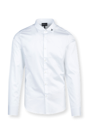 Timeless Buttoned Down Shirt in White EMPORIO ARMANI