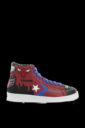 Pro Leather Hi Garnet Black Hyper Sneaker CONVERSE