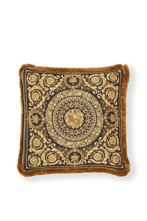 Barocco Patchwork Cushion in Gold VERSACE