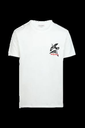 Skull Cotton Shirt in White ALEXANDER MCQUEEN