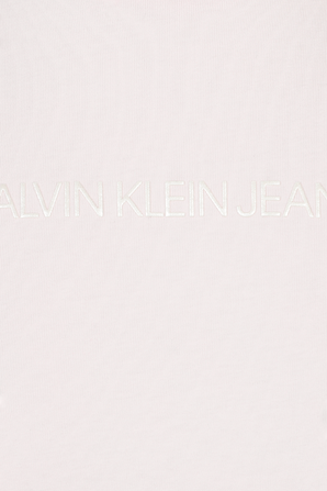 Embroidered Slim Logo Tee in Pearly Pink CALVIN KLEIN