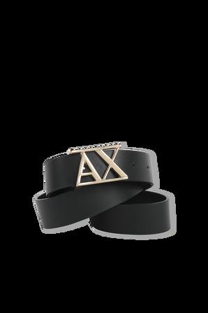 Leather Belt With Logo Buckle ARMANI EXCHANGE