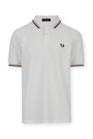 Classic Logo Polo Shirt In White FRED PERRY