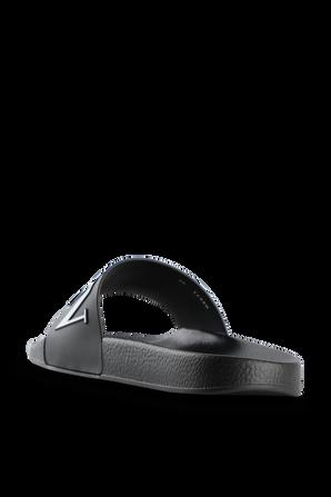 Classic Logo Slides in Black and White VALENTINO